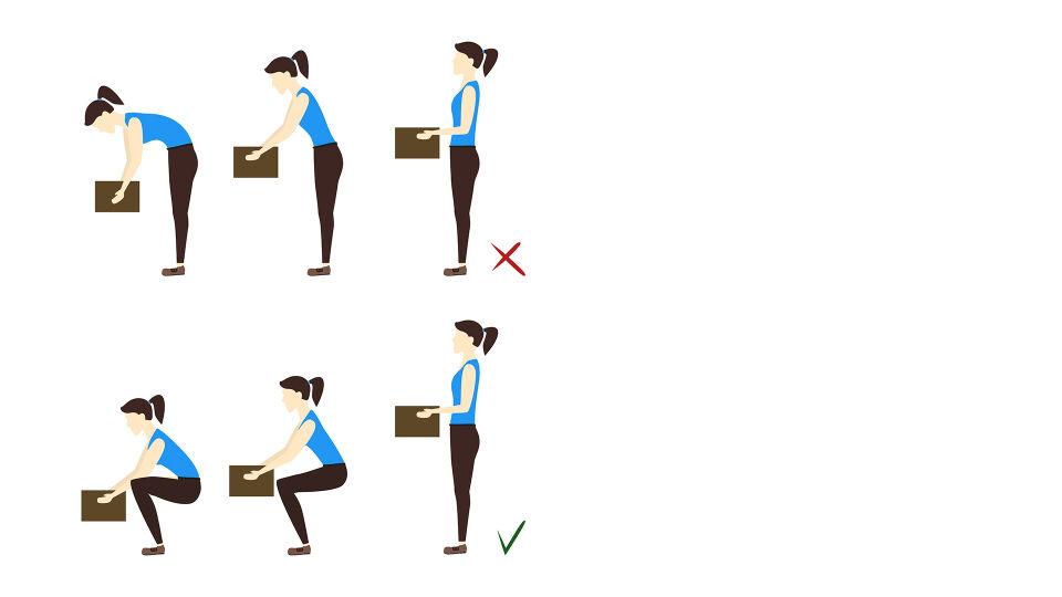 Richtig heben Rücken - Achten Sie auf Ihre Haltung, wenn Sie etwas Schweres heben. - © Shutterstock