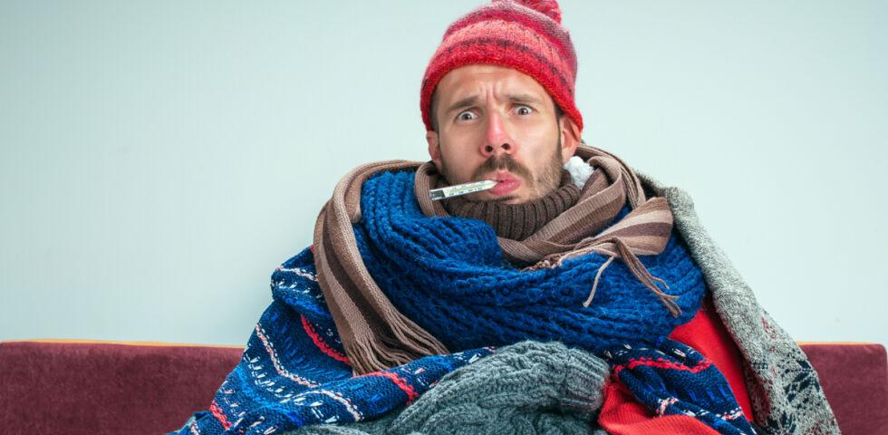 Erkältung Mann - © Shutterstock