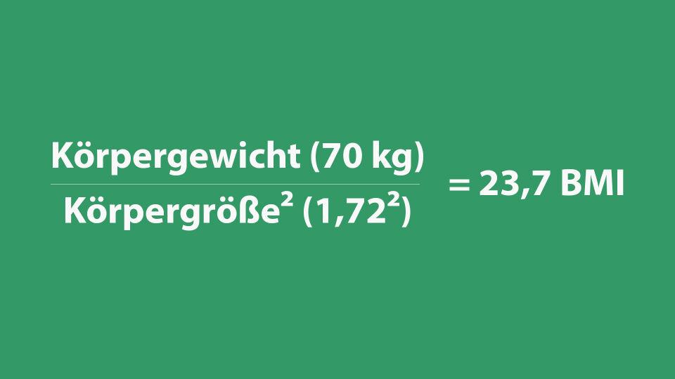 BMI Berechnung Bsp - © red