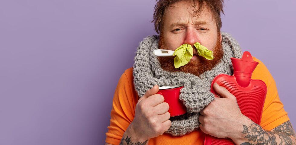 Mann krank grippe erältung - © Shutterstock