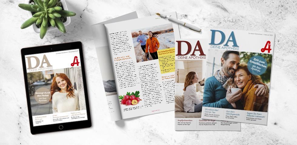 """DA_Coverbild_Homepage_Archiv - Das Magazin """"Deine Apotheke"""" erscheint jedes Monat. - © apoverlag/red"""