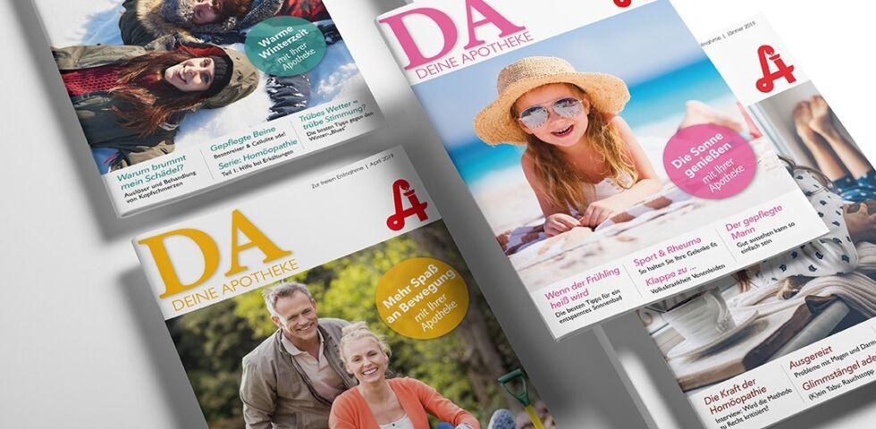 """DA Cover Mix Mai 2019 - Die Print-Publikation """"Deine Apotheke"""" erscheint einmal monatlich."""