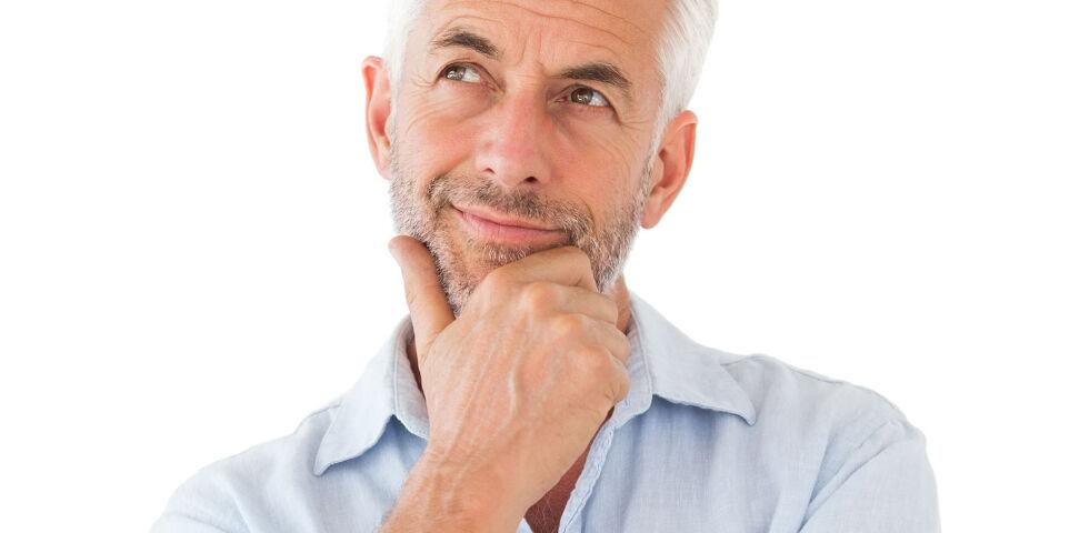 Mann Idee - Bei Männern nimmt die Hormonproduktion im Alter nicht schlagartig ab wie bei den Frauen. Es ist viel mehr ein sehr individueller und schleichender Prozess. - © Shutterstock