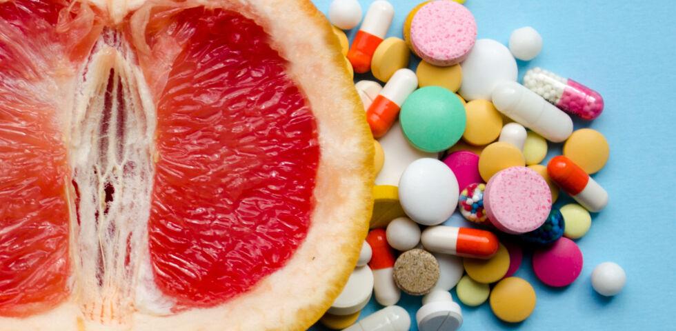 Grapefruit und Medikamente vertragen sich nicht - Grapefruit und Medikamente vertragen sich nicht. - © Shutterstock