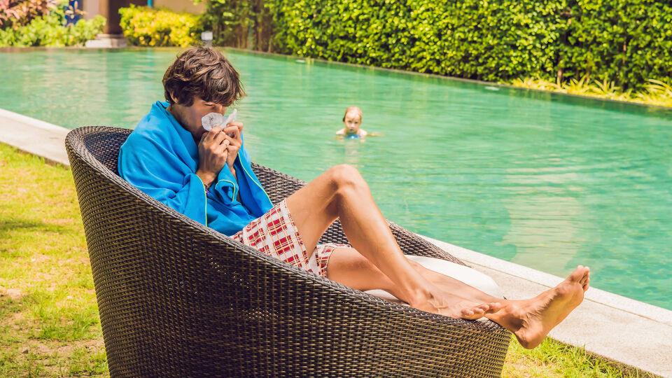 Erkältung Urlaub Sommer - © Shutterstock