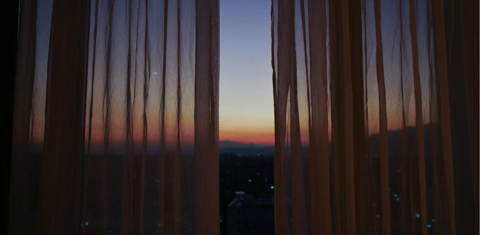 Fenster Nacht oder Morgen