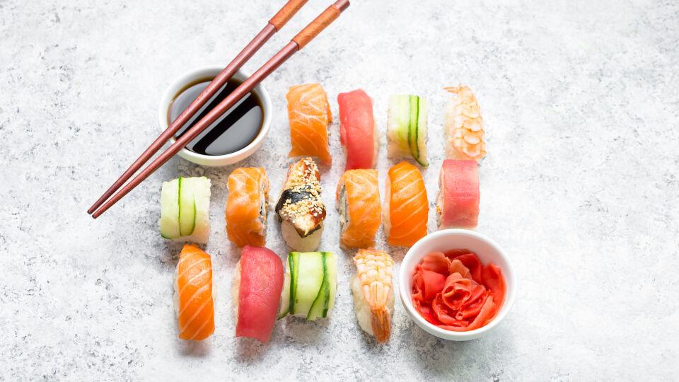 Sushi-Ernährung - Rohes Fleisch und roher Fisch sind während der Schwangerschaft besser tabu.