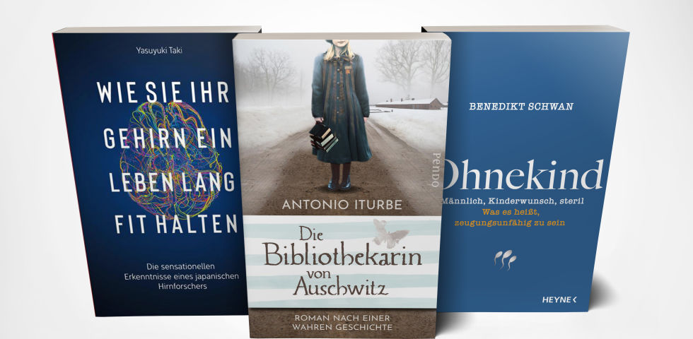 Buch Cover Mockup Oktober_Trias Verlag_Pendo Verlag_Heyne Verlag - Die Buchtipps im Oktober. - © Trias/Pendo/Heyne