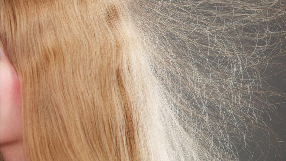 Statisch aufgeladene Haare