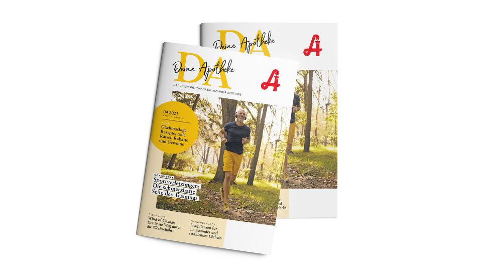"""DA_Cover_Mockup_April_Website - Die April-Ausgabe von """"DA - Deine Apotheke""""."""