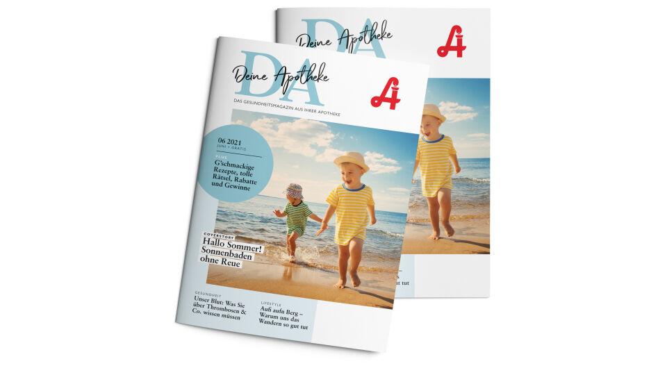"""DA_Cover_Mockup_Juni_online - Die Juni-Ausgabe von """"DA - Deine Apotheke""""."""