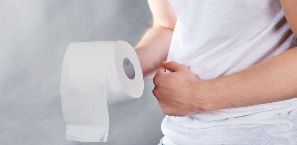 Klopapier Darm - Viele Betroffene leiden unter Durchfall oder Verstopfung. - © Shutterstock