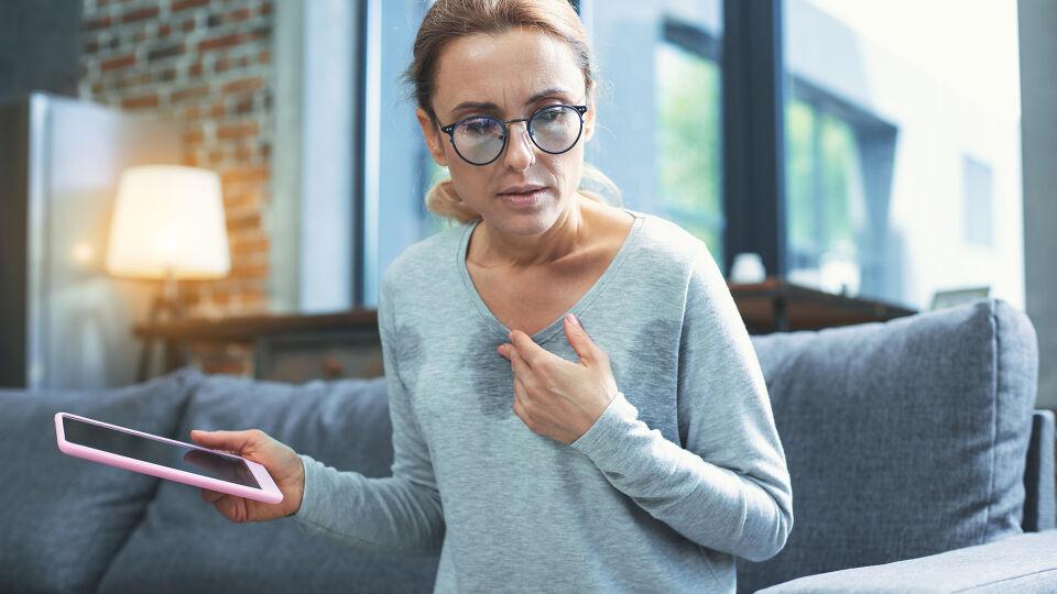Menopause Schweißausbruch - © Shutterstock