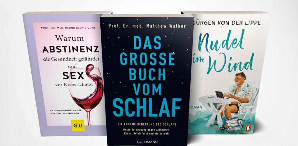 """Buchtipps Mockup 2-19 lg - """"Ein Buch, das man liebt, darf man nicht leihen, sondern muss es besitzen."""" –Friedrich Nietzsche - © Gräfe und Unzer Verlag/Goldmann/Penguin Verlag/red"""